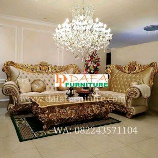 Set Kursi Sofa Mewah Ukir Jepara Terbaru DFJ-012