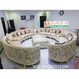 Set Kursi Sofa Tamu Bundar Mewah Terbaru DFJ-059