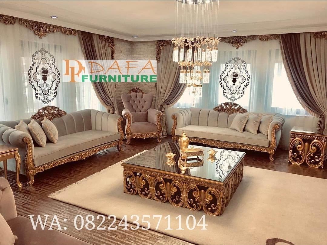 Set Kursi Sofa Tamu Klasik Mewah Terbaru DFJ-034