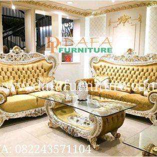Set Sofa Tamu Ukir Klasik Mewah Terbaru DFJ-077