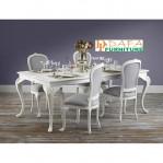 Set Meja Makan Putih