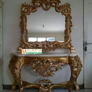 Meja Console Ukir Gold