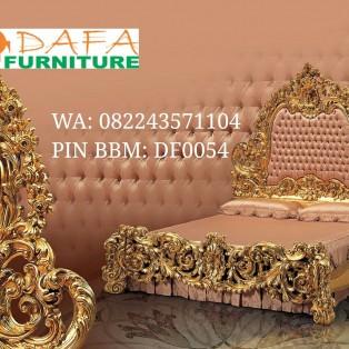Bed Antique Ukiran Mewah Model Royal
