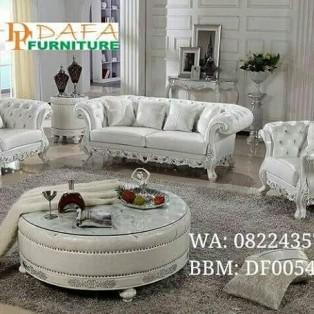 Sofa Modern Model Ukiran Shabby White