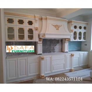Kitchen Set Klasik Modern Putih Model Eropa Terbaru