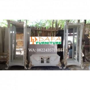 Bufet Tv Set Minimalis Modern Ukir Jepara Mewah Terbaru