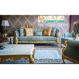 Set Kursi Sofa Tamu Ukir Mewah Mebel Jepara Terbaru