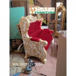 Sofa Tamu 3 Dudukan Ukiran Mebel Jepara Klasik Terbaru
