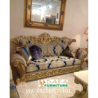 Sofa Tamu Ukiran Mewah Model Cleopatra Murah Terbaru