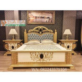Kamar Tidur Mewah Emas Klasik Terbaru