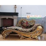 Kursi Sofa Santai Ukiran Mewah Duco Emas Terbaru