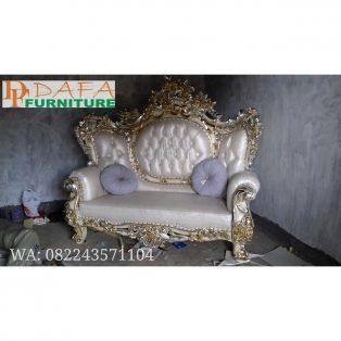 Sofa Tamu Ukiran Mewah 2 Dudukan Terbaru
