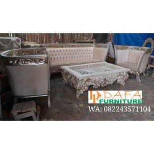 Set Sofa Ruang Tamu Mewah Model Klasik Terbaru