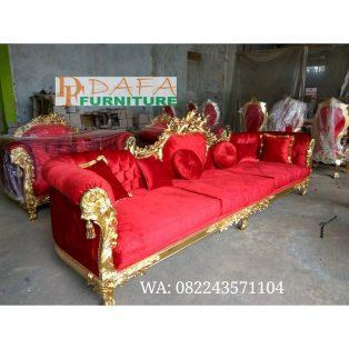 Kursi Sofa Panjang Mewah Elegan Furniture Jepara Terbaru