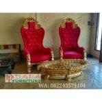 Kursi Sofa Teras Merah Ukir Khas Jepara Terbaru
