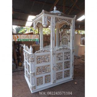 Mimbar Masjid Ukir Mewah Khas Jepara Terbaru