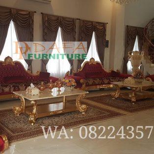 Set Kursi Sofa Tamu Mewah Model Turki Gold Terbaru