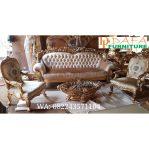 Set Sofa Tamu Mewah Ukiran Khas Jepara Klasik Terbaru