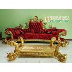 Sofa Tamu Mewah Model Timur Tengah Warna Emas