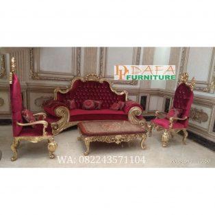 Set Kursi Sofa Tamu Ukir Mewah Duco Emas Terbaru