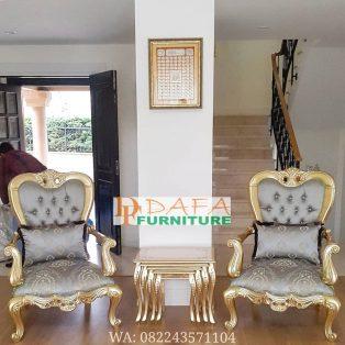 Set Kursi Sofa Teras Emas Ukir Jepara Terbaru