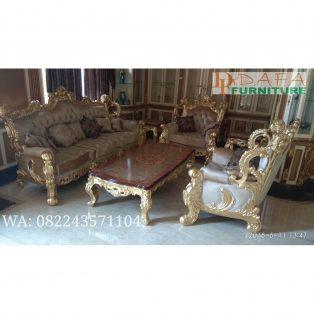 Set Sofa Ruang Tamu Mewah Ukir Jepara Terbaru