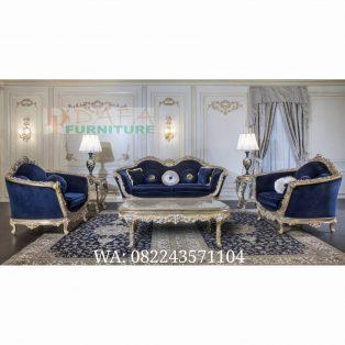 Set Sofa Ruang Tamu Ukir Klasik Mewah Terbaru