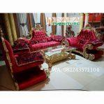Set Sofa Ruang Tamu Ukir Mewah Klasik Lengkung Terbaru