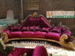 Sofa Tamu Ukir Kerang 4 Dudukan Mewah Terbaru