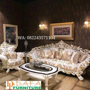 Kursi Sofa Tamu Ukir Set Klasik Mewah Terbaru