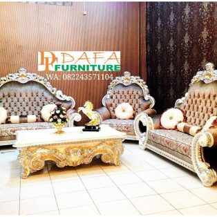 Set Kursi Sofa Ruang Tamu Mewah Ukir Terbaru