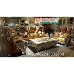 Set Sofa Tamu Ukir Duco Klasik Mewah Terbaru