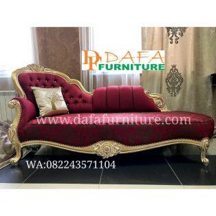 Kursi Sofa Tamu Mewah Merah Elegan Terbaru DFJ-060