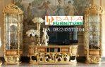 Set Bufet Tv Klasik Mebel Jepara Mewah Terbaru DFJ-030