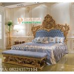 Set Tempat Tidur Ukir Klasik Mewah Terbaru DFJ-075
